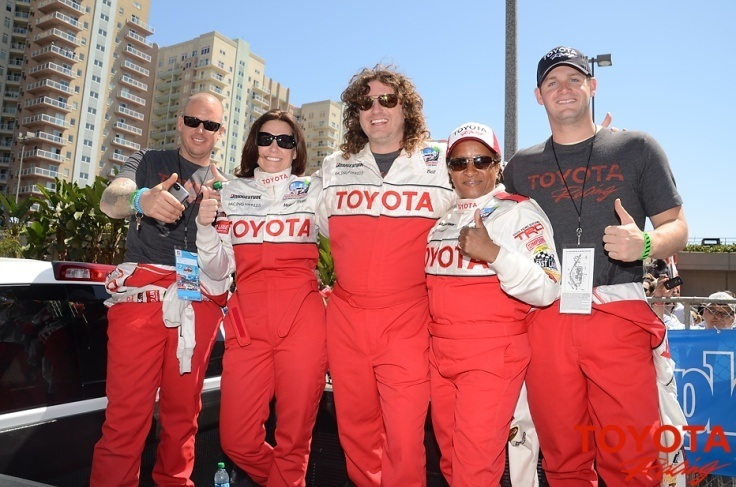 Tyler Clary, 2012 Olympic Champion in the 200 backstroke, at the Toyota Pro Celebrity race