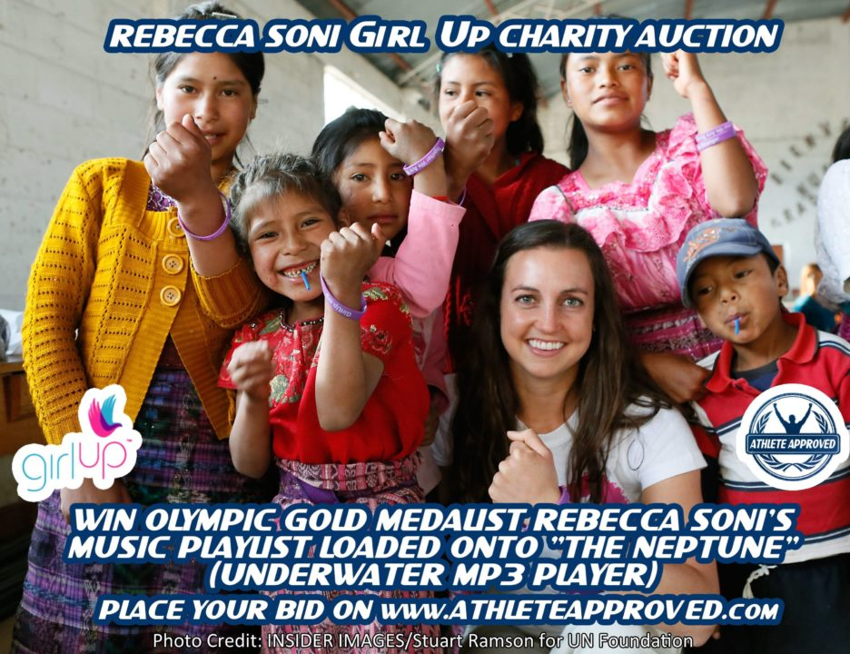 Athlete Approved Charity Auction Features Rebecca Soni pre-loaded FINIS Neptune MP3 Player