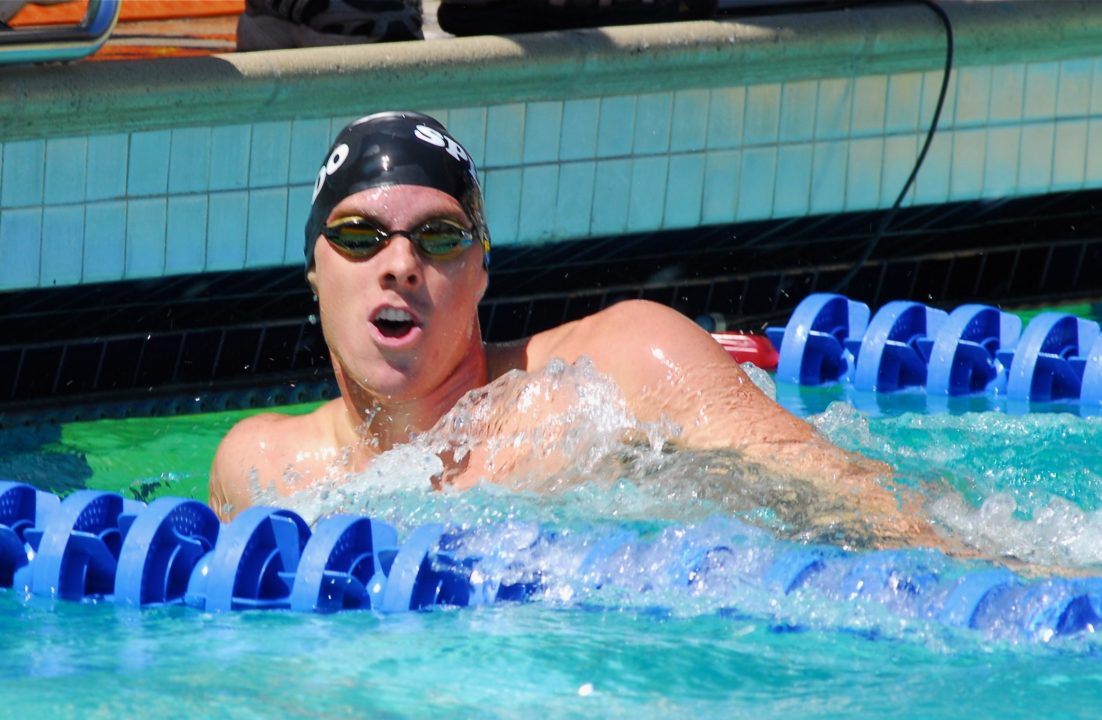 Lochte Finishes Meet With 4th Win; Pelton Swims Best Time in 100 Back