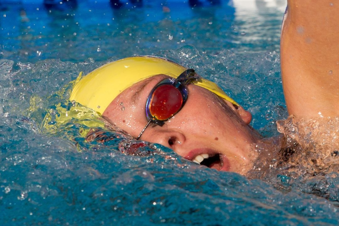 Sutton Wins 800 to Open Swim Meet of Champions; Has Uncanny Split