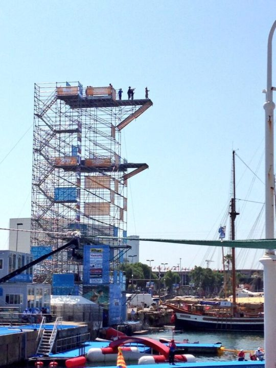 Hunt, Bader Lead Early Rounds of World Championship High Diving