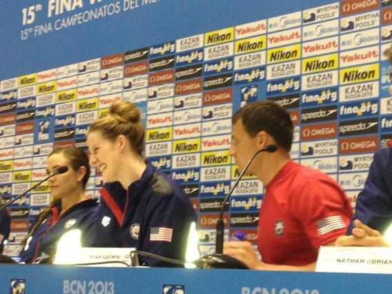FINA Worlds Press Conference: Missy Franklin smiles....again.
