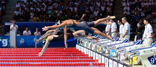 100 breast start, heat 2, 2013 FINA World Championships (Photo Credit: Victor Puig, victorpuig.com)
