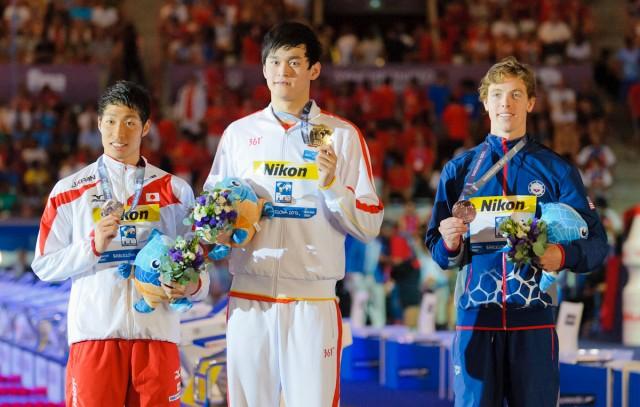 Men's 400 free winners, 2013 FINA World Championships (Photo Credit: Victor Puig, victorpuig.com)