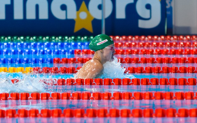 Ruta Meilutyte, 100 breaststroke prelim, 2013 FINA World Championships (Photo Credit: Victor Puig, victorpuig.com)
