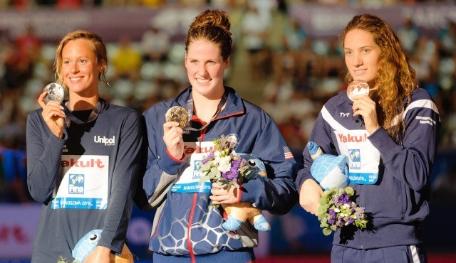 Federica Pellegrini, Missy Franklin, Camille Muffat, 200 Freestyle Final, 2013 FINA World Championships (photo credit: Victor Puig, victorpuig.com)