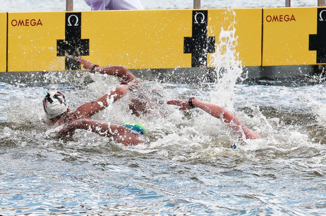 Wow that's tight – Close finishes in Open Water Swimming