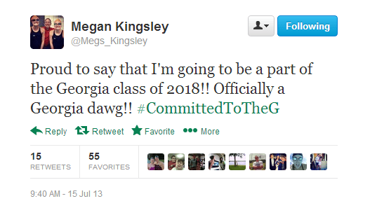 Megan Kingsley Tweet Commitment Georgia