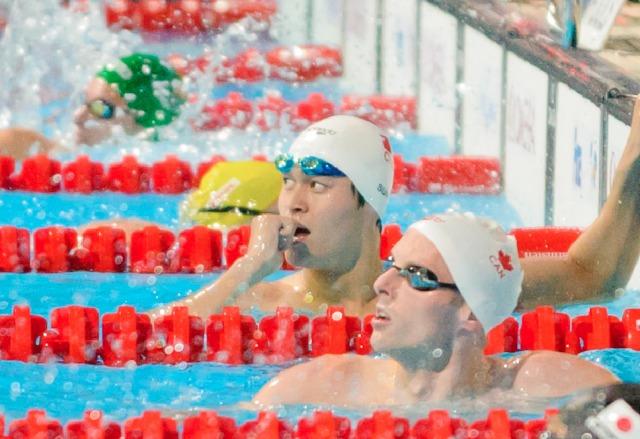 Sun Yang and Ryan Cochrane, 400 freestyle, 2013 FINA World Championships (Photo Credit: Victor Puig, victorpuig.com)