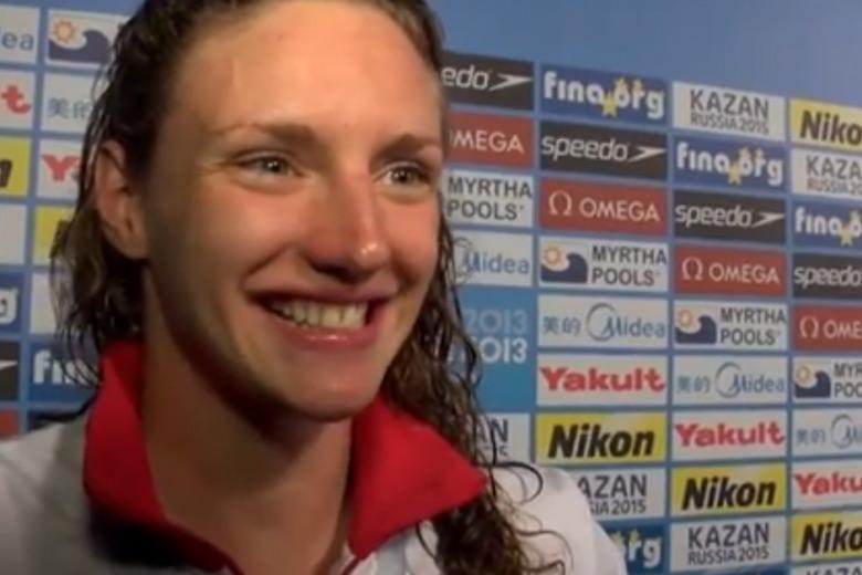 Katinka Hosszu 200 IM Worlds Winner, Post Race Interview