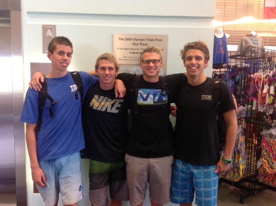 Tide Swim Team Breaks 15-18 NAG Record (But Not 17-18)