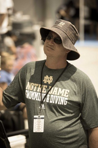 Coach Tim Welsh leads a strong group of Irish at the open.  (photo: Mike Lewis, Ola Vista Photography)