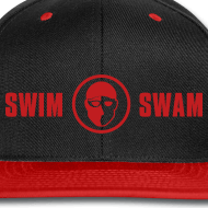 SwimSwam red n black baseball cap