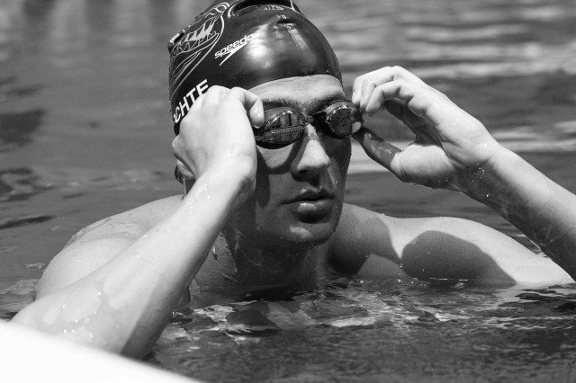 Ryan Lochte 2013 Men's 100 fly champion.  (photo: Mike Lewis, Ola Vista Photography)