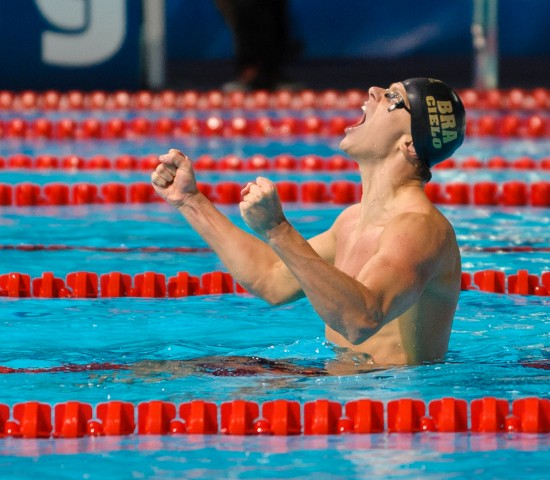 Cesar Cielo, 50 freestyle final, 2013 FINA World Championships (Photo Credit: Victor Puig)