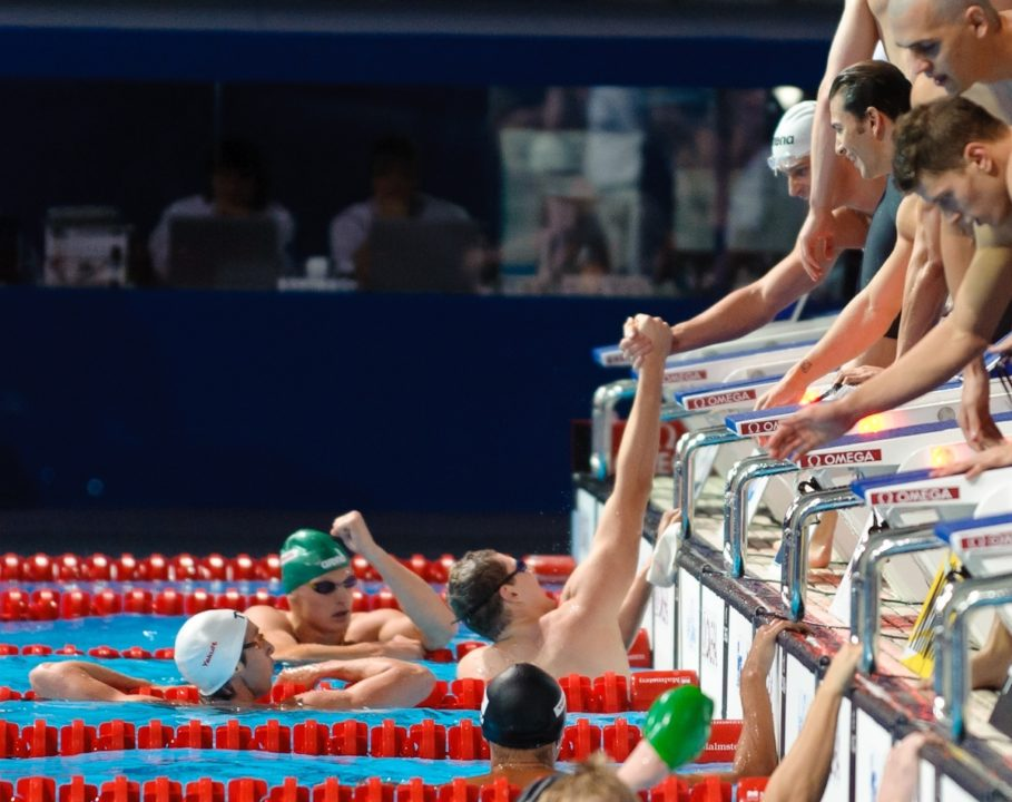 British French Dual Set Up In 4x100m Medley Relay At 2014 European Championships