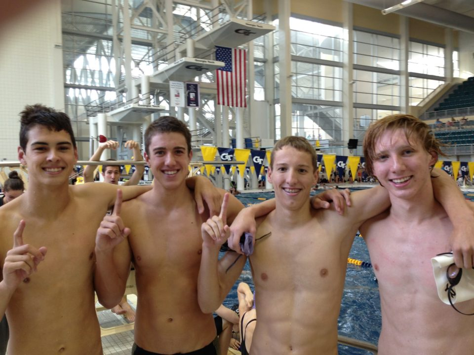 Triangle Area Breaks Men's 200 M Free Relay NAG Record at YMCA Nationals