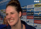 Missy Franklin, post race 4x200 free relay, 2013 Worlds (Image Courtesy of FINA)