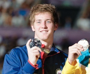 Jimmy Feigen, 100 freestyle medalist, 2013 World Chamionship (Victor Puig, victorpuig.com)