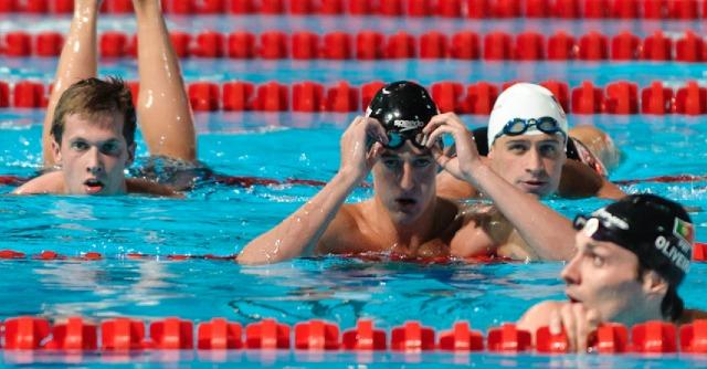 Craig McNally and Ryan Lcohte, 200 backstroke prelim, 2013 FINA Worlds (Photo Credit Victor Puig, victorpuig.com)