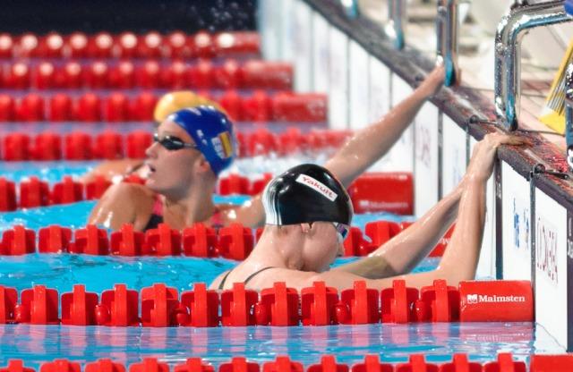 Belmonte & Lauren Boyle, 800 freestyle relay prelim,  2013 FINA Worlds (Photo Credit Victor Puig, victorpuig.com)