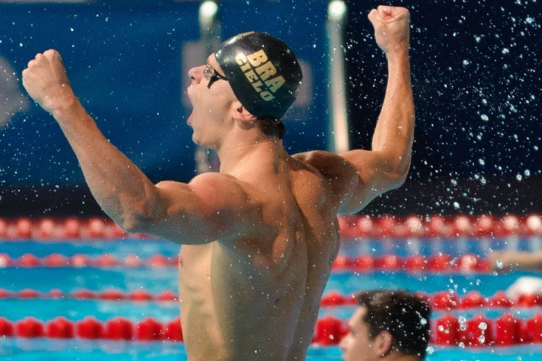Cesar Cielo 50 Free World Championships Win – Post Race Interview