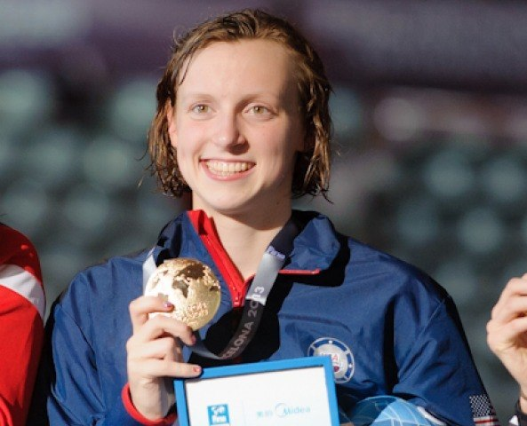 Kate Ledecky, 800 freestyle world record, 2013 FINA World Championships (Photo Credit: Victor Puig)