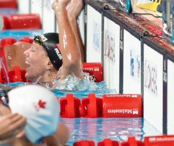 Yuliya Efimova, 50 breaststroke prelim, downs Hardy's World Record, 2013 FINA World Championships (Photo Credit: Victor Puig)