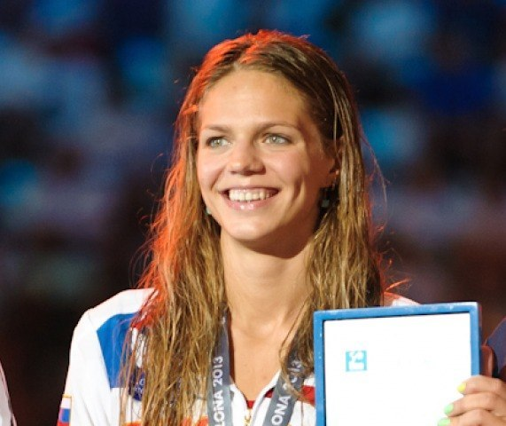 Yuliya Efimova, 50 breaststroke final, 2013 FINA World Championships (Photo Credit: Victor Puig)