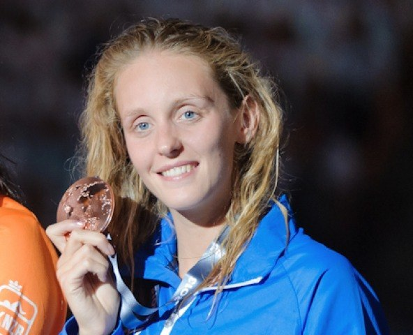 Francesca Halsall, 50 free final, 2013 FINA World Championships (Photo Credit: Victor Puig)