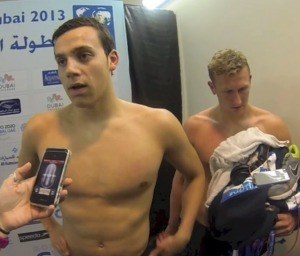 Jame Guy, 2013 FINA Junior World Championships (Image Courtesy of Colin Blair video capture)
