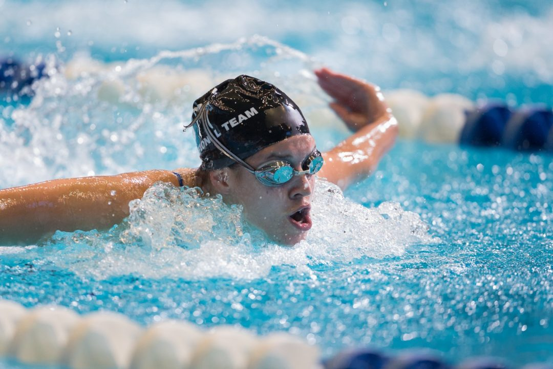 Courtney Weaver's 52.5 100 fly highlights Tuesday prelims of YMCA Nationals