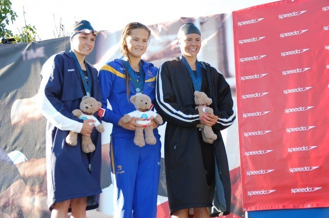 Drabot, Mclaughlin, Carrozza, 200 free, 2013 Junior Nationals (Photo Credit: Anne Lepesant)