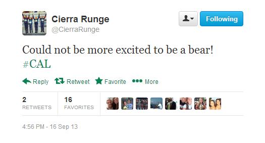 Cierra Runge Tweet Cal Commit