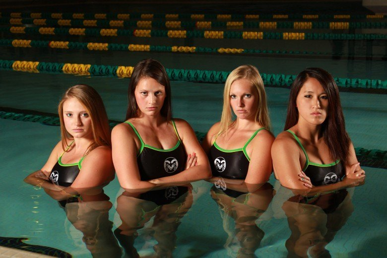 CSU swimming & diving signs 7