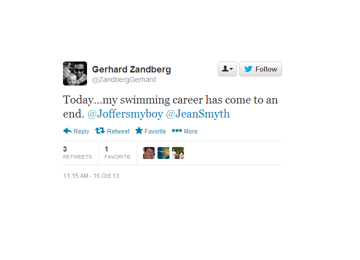 "World Champion Gerhard Zandberg Retires from Swimming After Two-Year Suspension For ""Violation of Team Rules"""