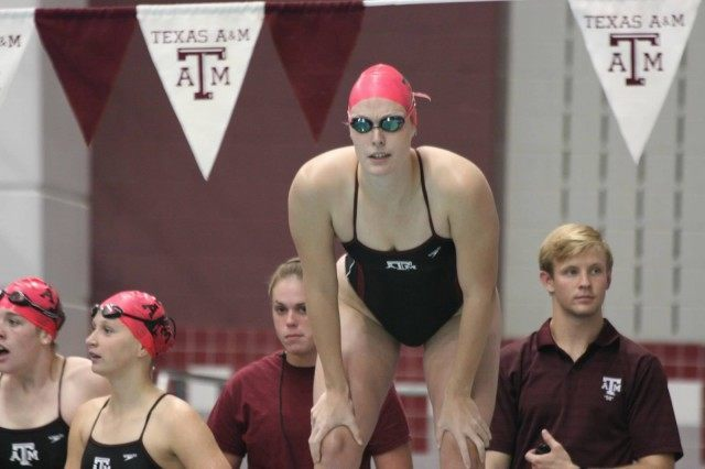 2013-14 Texas A&M Women's Swimming and Diving v Texas Longhorns, Oct 18th 2013 (Courtesy of Liz Dittmer)