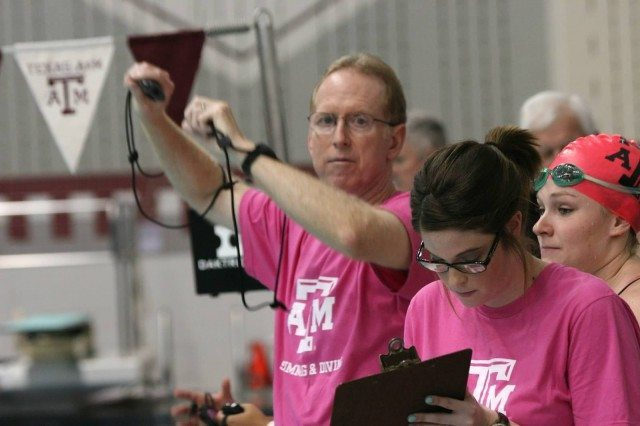 Steve Bultman, 2013-14 Texas A&M Women's Swimming and Diving v Texas Longhorns, Oct 18th 2013 (Courtesy of Liz Dittmer)