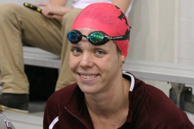 Paige Miller, 2013-14 Texas A&M Women's Swimming and Diving v Texas Longhorns, Oct 18th 2013 (Courtesy of Liz Dittmer)