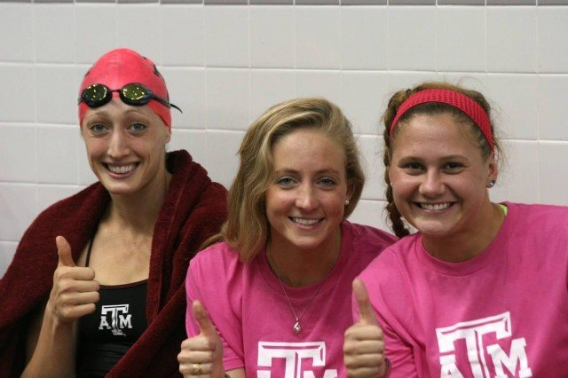 Breeja Larson, 2013-14 Texas A&M Women's Swimming and Diving v Texas Longhorns, Oct 18th 2013 (Courtesy of Liz Dittmer)