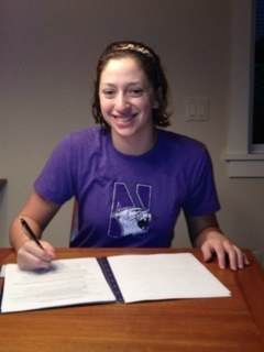 Anna Keane Northwestern Swimming signing