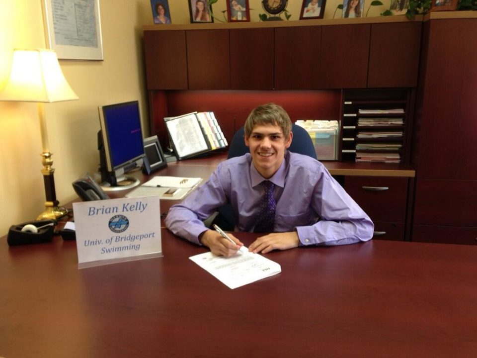 Lakeland Hills YMCA's Brian Kelly Signs NLI with UB Purple Knights Men's Swimming Team