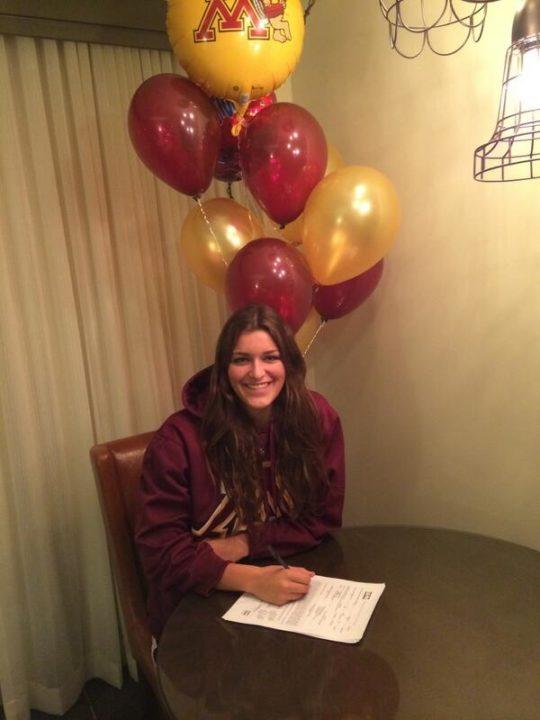 (NLI Photos): Brooke Lorentzen Officially Becomes a Gopher