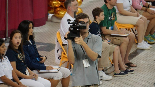 Kelly McCommons, TakeitLive teammate, captures the actions. 2013 Arena Grand Prix at  Minnesota (courtesy of TakeItLive)