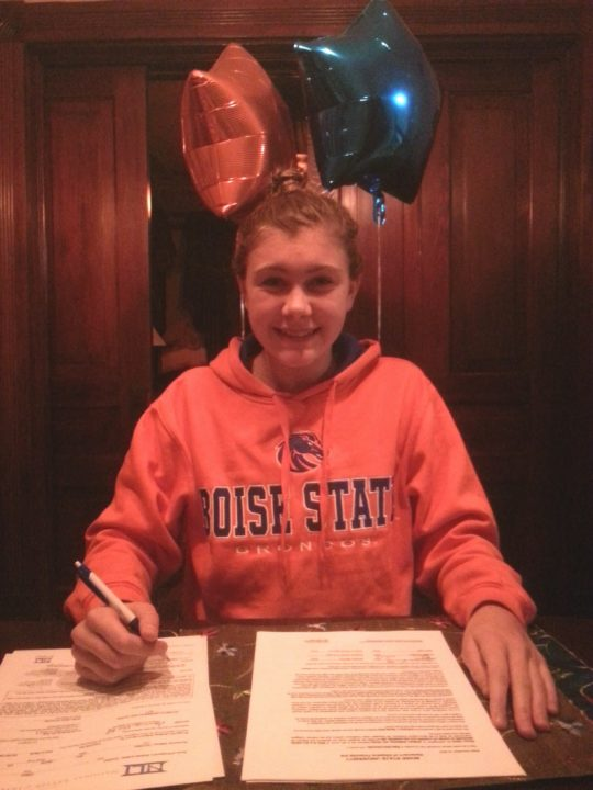 (NLI Photos) Washington state champ Emma Chard signs with Boise State