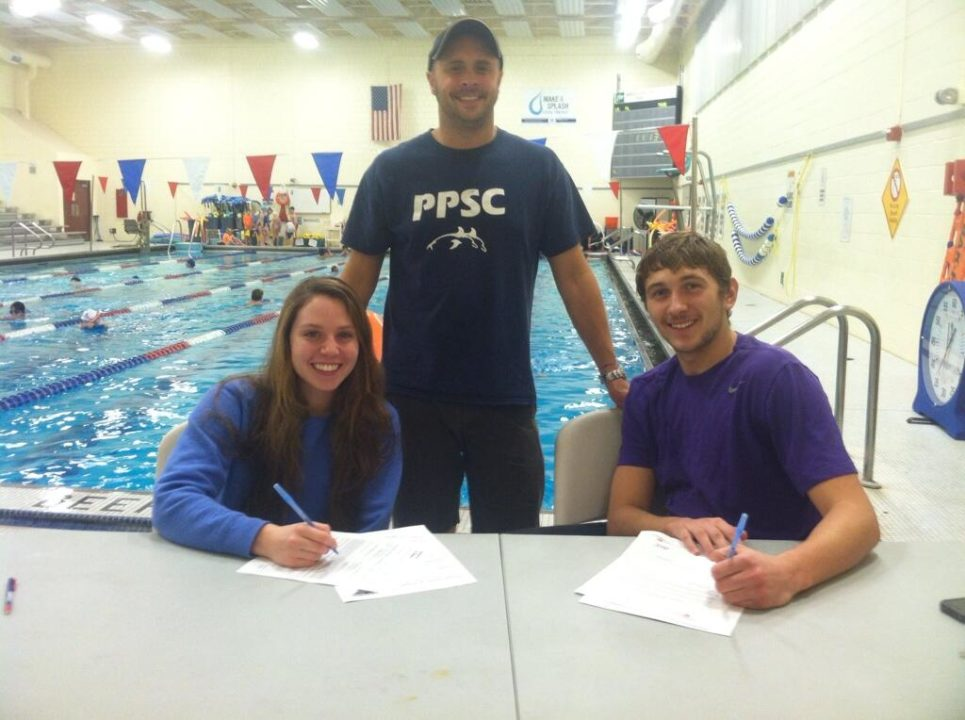 (NLI PHOTOS) Pair of Portland Porpoises Sign Letters of Intent