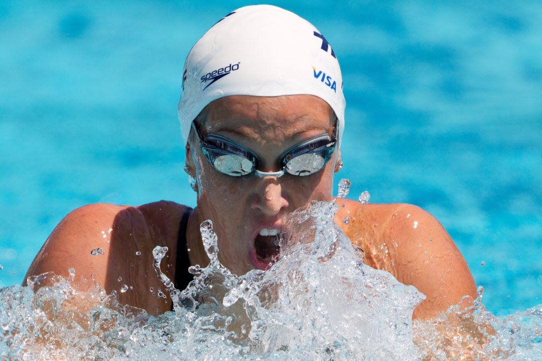 2014 Mesa Grand Prix-Prelims Recap Day 3: Katie Hoff Blows Away The Field In 200 IM On A Windy Morning In Mesa