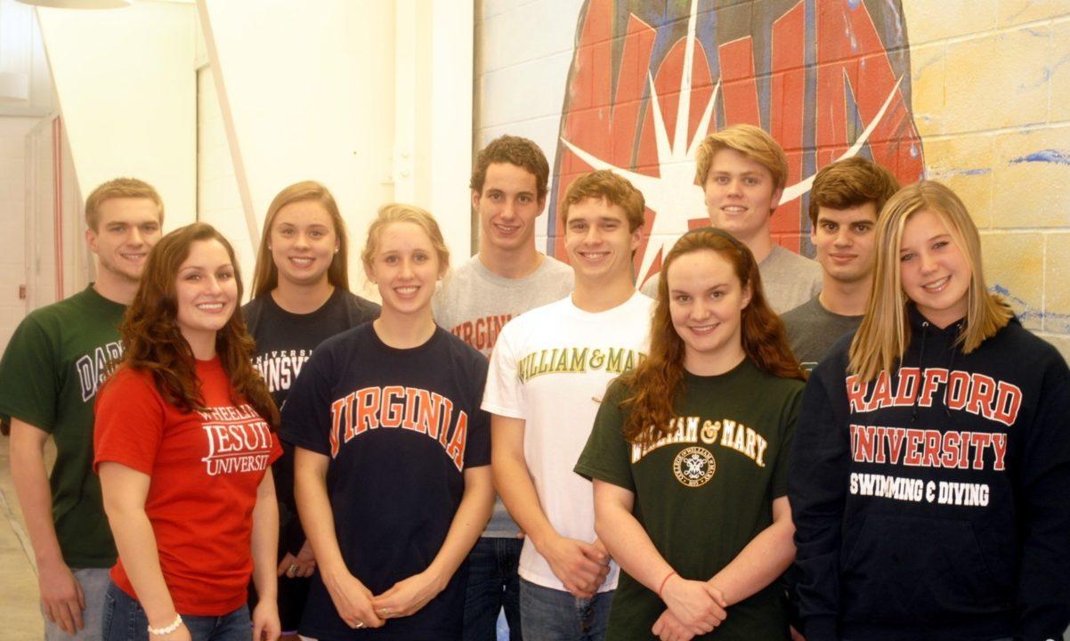 NOVA of Virginia Aquatics announces NCAA National Letters of Intent and College Selections
