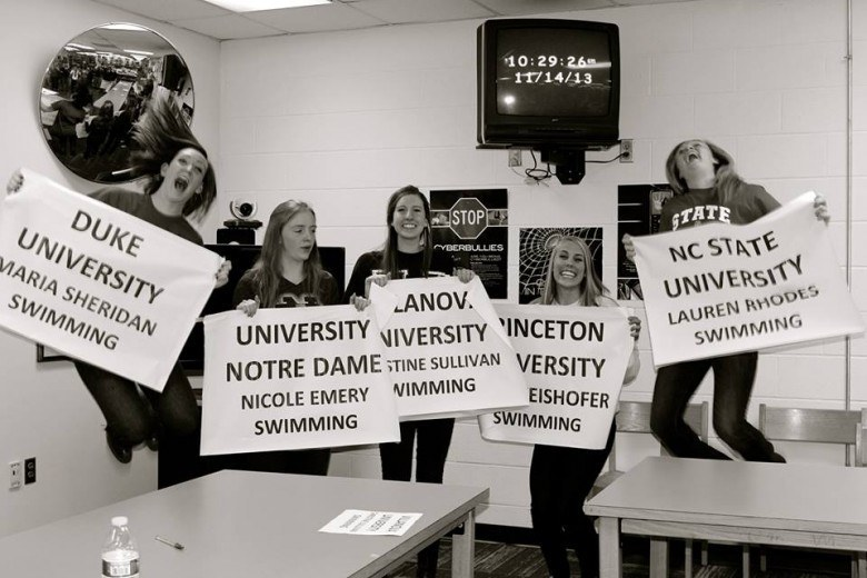 (NLI PHOTOS): SwimMAC/Charlotte Catholic Girls Have Best Signing Shoot Yet