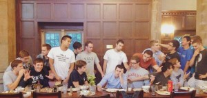 Renaissance men: Yale Swimming and Diving Team (courtesy of Yale S&D Alumni/Twitter)